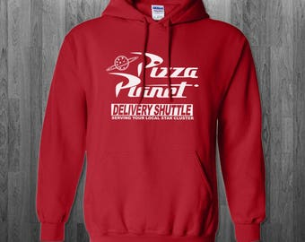 88018a1ac64 Pizza Planet logo Red Hoodie Pizza delivery shuttle funny Halloween costume  Hooded Sweater Youth Adult size Hoodies S-4XL