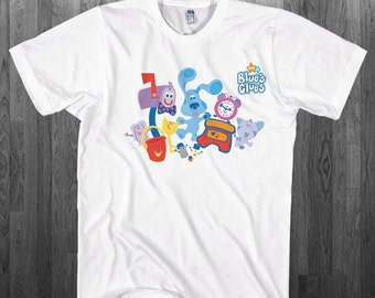 Blues Clues T-shirt Blue friendly puppy Youth Adult toddler size Tee Shirts