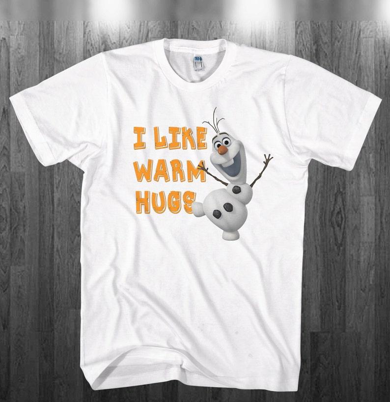 b8f24a120 I Like warm Hugs Olaf T-shirt Kristoff Elsa Anna disney Frozen | Etsy