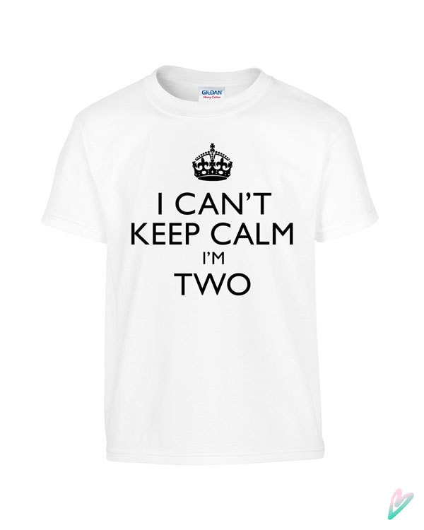 Funny I CANT KEEP CALM Im Two Toddler Tee T Shirt