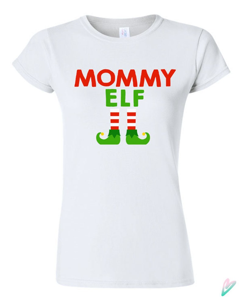 375ae4ec0 Mommy Elf Christmas T-shirt Tshirt Tee Shirt Gift Xmas Holiday | Etsy