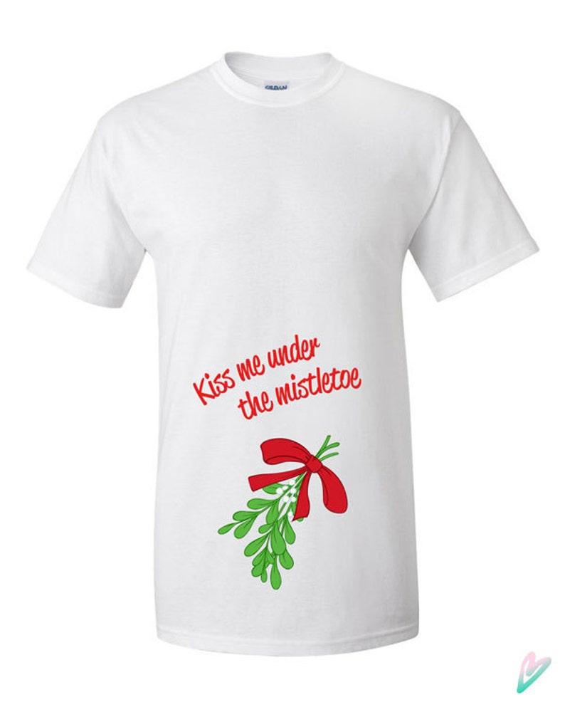 4d22b3887d Funny Kiss Under the Mistletoe Christmas T-shirt Tshirt Tee | Etsy