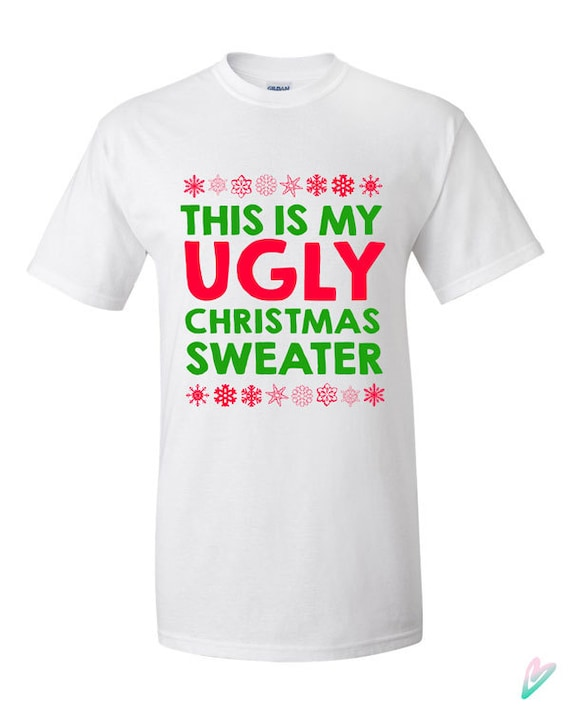 Adult Unisex Chest Snowflakes Adult Green Ugly Christmas Sweater