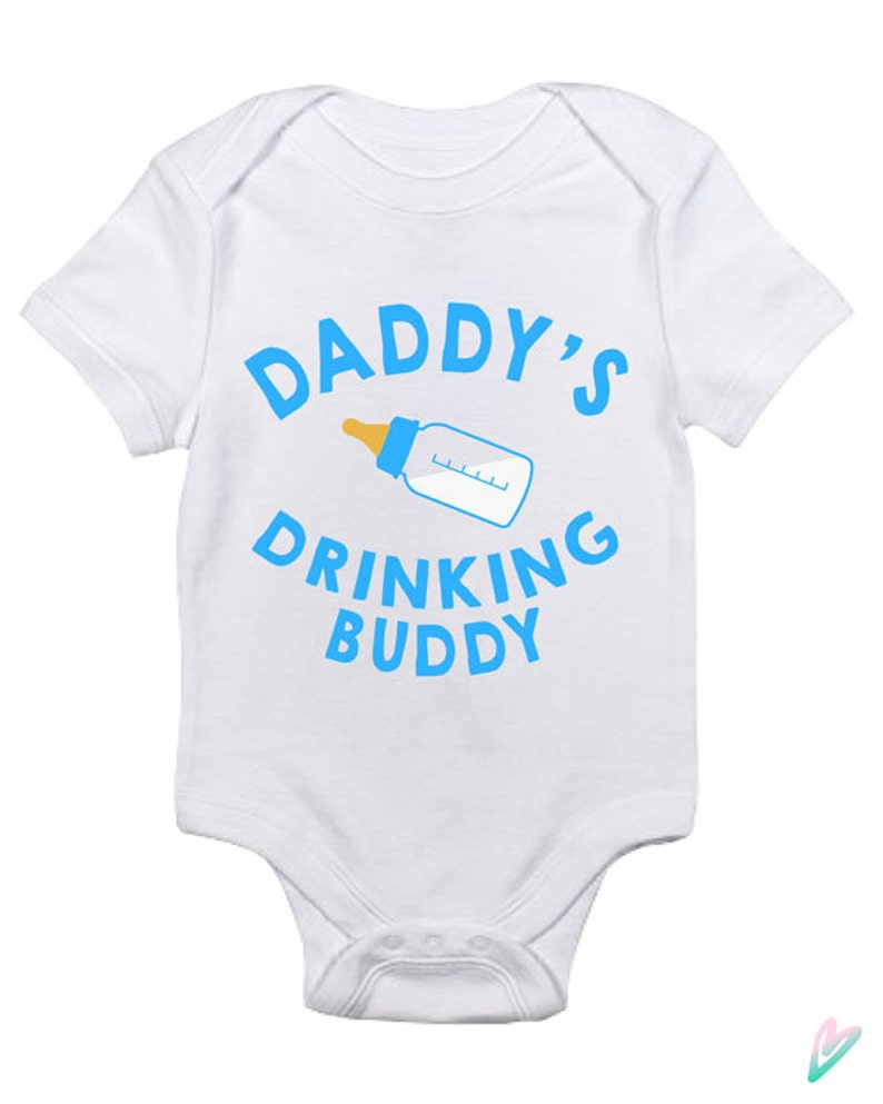ce6a07124 Funny Daddy's Drinking Buddy Baby Clothes Infant Bodysuit | Etsy