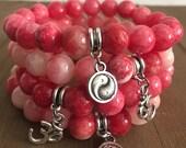 Pink Charm Bracelets Set
