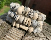 Bone Bead Bracelets Set