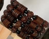 Ethnic Wood Bead Bracelet Set