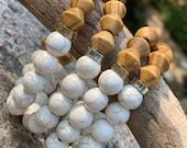 Half and Half Wood Bead Bracelet Set