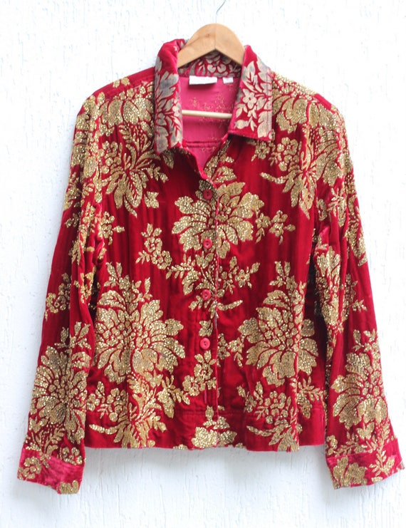 1989's Red Embroidered Jacket / Heavily Beaded Jac