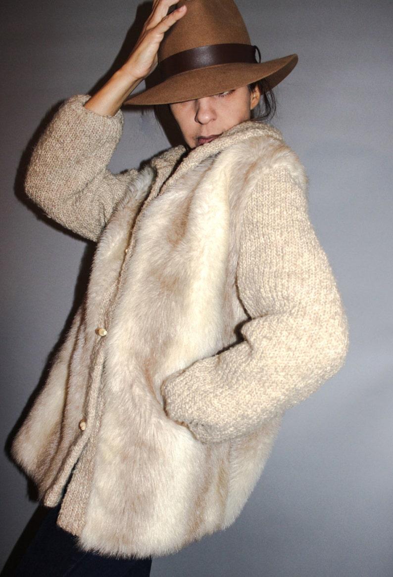 Wolf Fur Coat >> Fur Jacket 70 S Vintage Real Wolf Fur Coat Fluffy Wolf Fur Coat Crochet Sleeves Wolf Fur Coat Jacket Unisex Extra Large