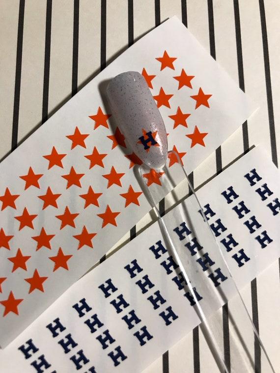 Houston Astros Nail Decals Houston Astros Nail Vinyls Etsy