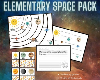 Planet Printable Solar System Educational Handouts Coloring Pages Science Writing Exercises