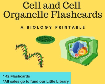 Cell Flashcards Science Printable Instant Download Bonus Memory Game