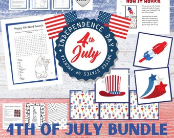 4th of July Printable, Coloring Pages, Activities, Memory Game, Flag Day, Memorial Day, Patriotic