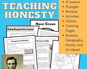 Character Curriculum Teaching Honesty Abraham Lincoln Educational Game