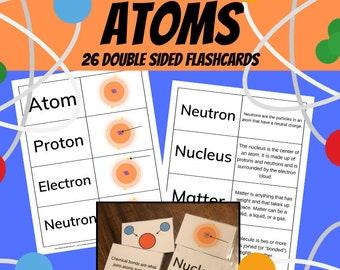 Atomic Flashcards Science Printable Bonus Memory Game