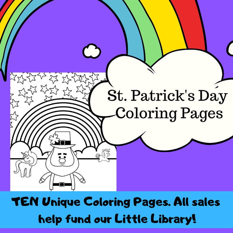 photograph relating to St Patrick's Day Printable Coloring Pages titled St. Patricks Working day Coloring Web pages, Printable Coloring Web site, 10 Alternative Webpages, Leprechaun, Unicorn, Shamrock, Rainbow, Preschool, Clroom