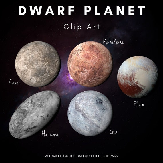 Dwarf Planet Clipart Space Clip Art Solar System Realistic Etsy