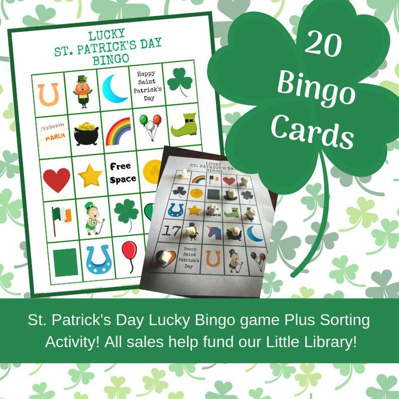 photograph regarding St Patrick's Day Bingo Printable identify St. Patricks Working day Bingo, Printable Bingo Video game, 20 Bingo Playing cards, Contacting Playing cards, Sorting Match, Quick Obtain, Very simple Bingo Sport