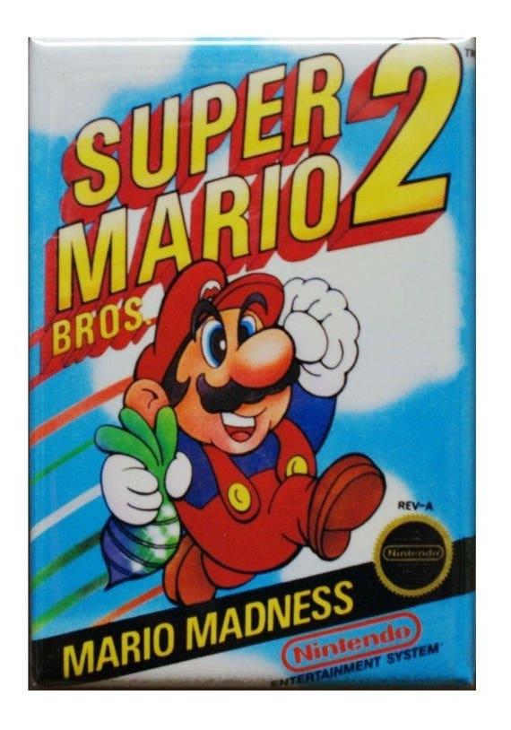 Retro Super Mario Bros 2 Nes Videogame Art Fridge Magnet