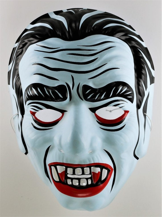 Vintage Dracula Vampire Witch Halloween Mask Bela