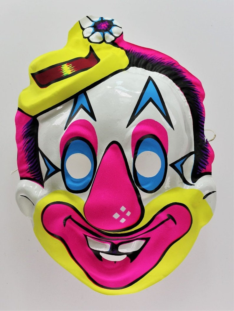 Vintage Circus Clown Halloween Mask Y193