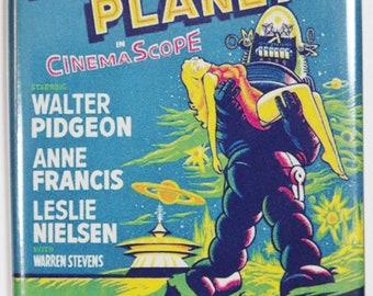 Forbidden Planet Movie Poster FRIDGE MAGNET Sci Fi Vintage Style