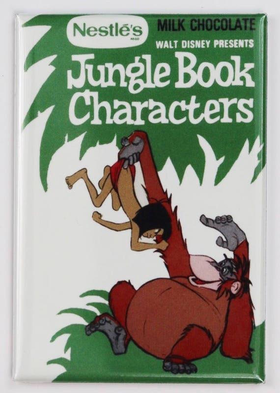 Nestle Disney Jungle Livre Personnages Chocolat Au Lait Frigo Magnet Bonbon