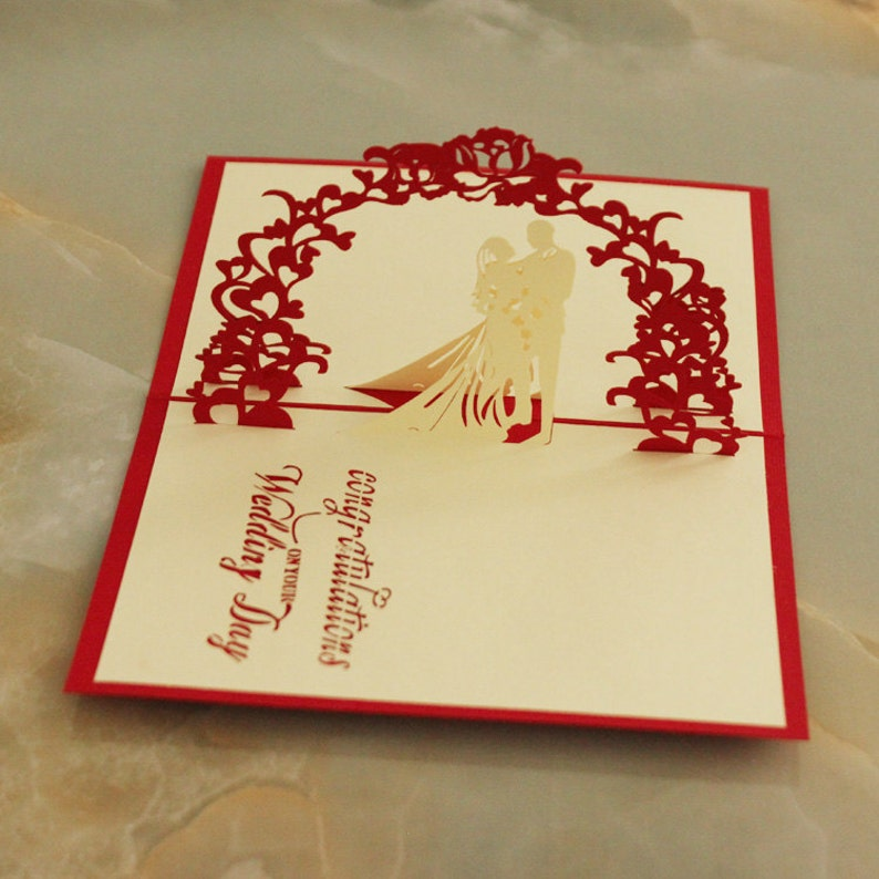 Pop Up Wedding Card Love You Valentines Day Girls Gift Romantics Diy Card Chinese Art Invitation Letter