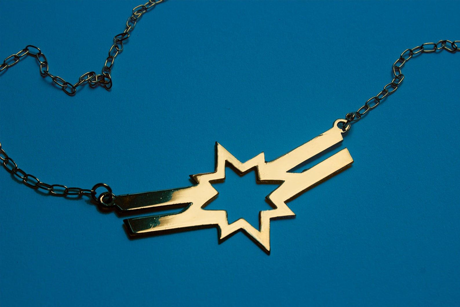 Captain Marvel Necklace on Etsy