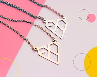 EXO - XOXO album inspired necklace - heart - 2 colors available