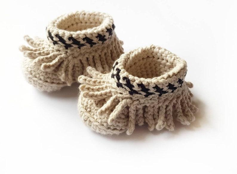 c51b7fc36 Crochet Indian Baby Moccs Baby Moccasins. Size Newborn 12