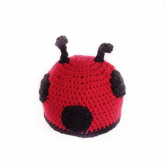 0276ccbd0e6 Ladybug Hat   Children s Ladybug Beanie   Red and Black