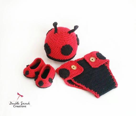 cf18727ef16 Baby Ladybug Outfit Set includes Ladybug Beanie Baby
