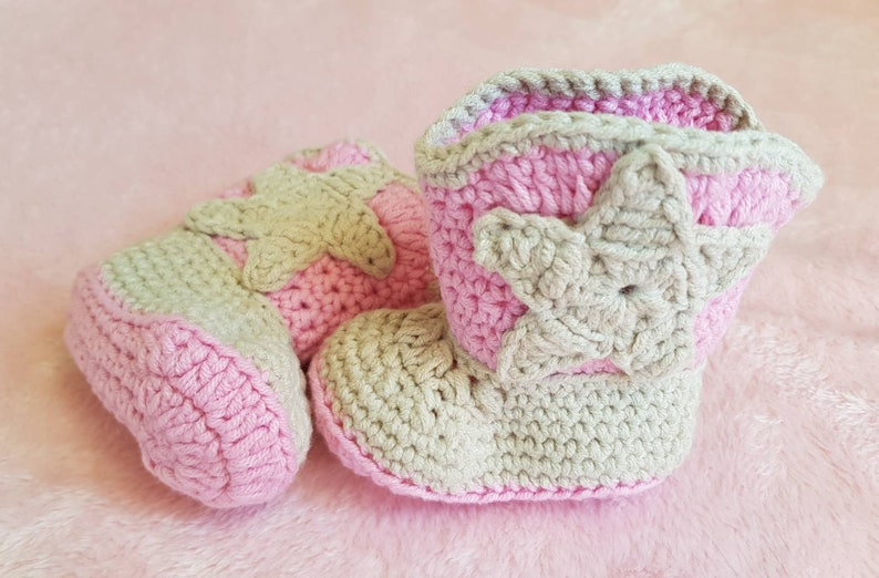 988522b09 Baby Cowgirl Boots Crochet Baby Booties