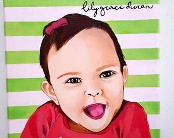 baby & kid portrait painting