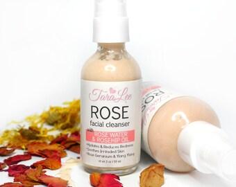 Rose Face Wash, Rose Facial Cleanser, Sensitive Face Wash, Natural Face Wash, Gentle, Best Face Wash, Rose Clay Wash