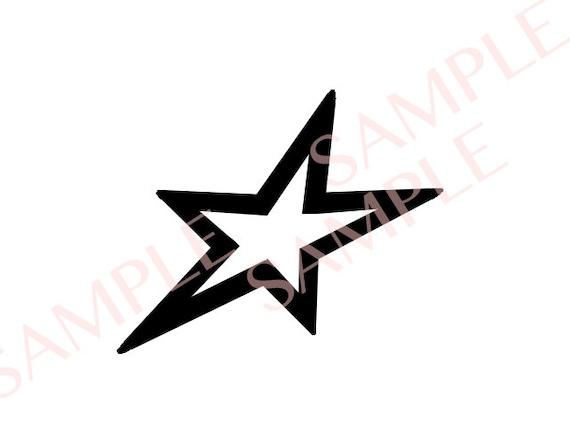 Rockstar Slanted Star Svg Png Jpg Digital File Etsy