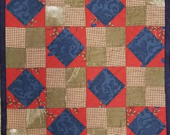 Cute 4-Patch Doll Quilt or Table Top Quilt