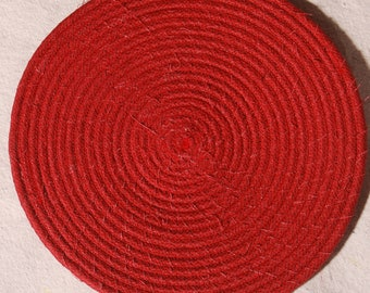 Country Red Rope Coiled Trivet