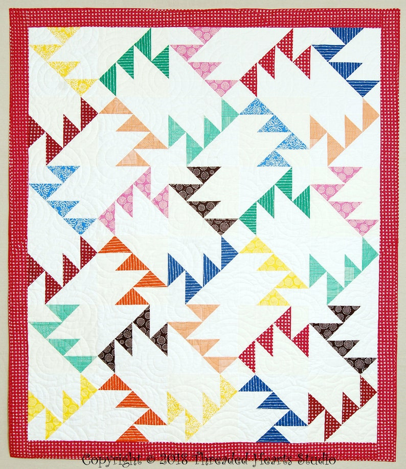Patchwork Geese Quilt image 0