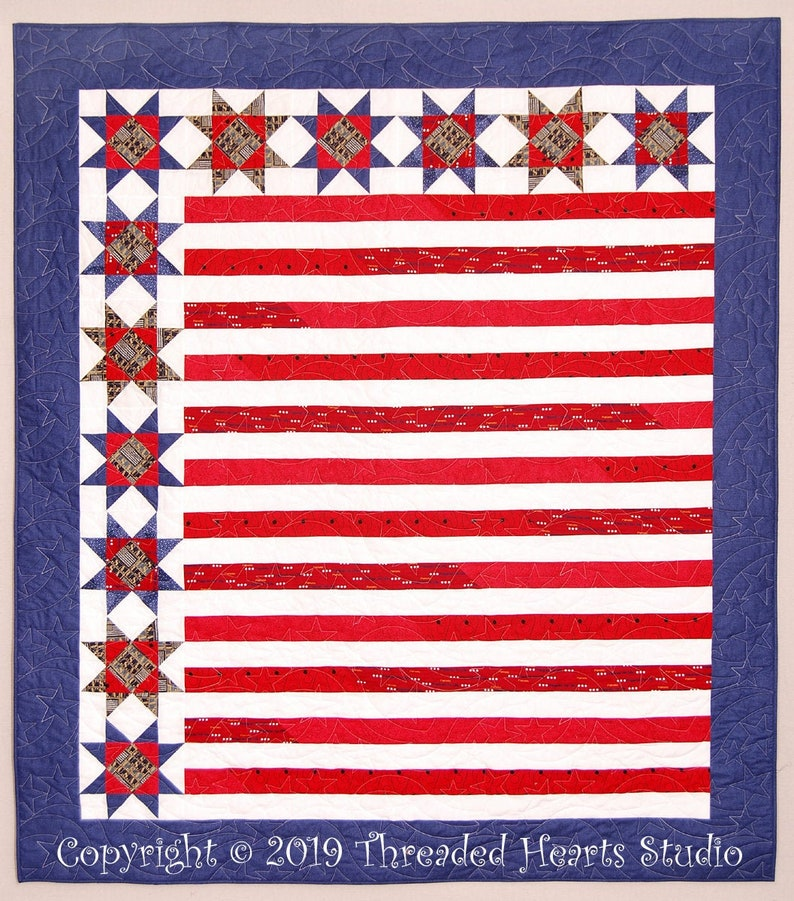 Stars and Stripes Patriotic Quilt image 0