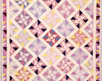 Pretty in Pinks!  Pinwheel Quilt