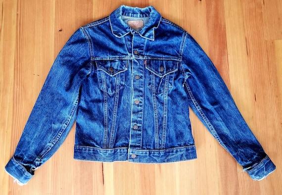 Vintage 1960s Big E Levi's Indigo Dyed Denim Jacke