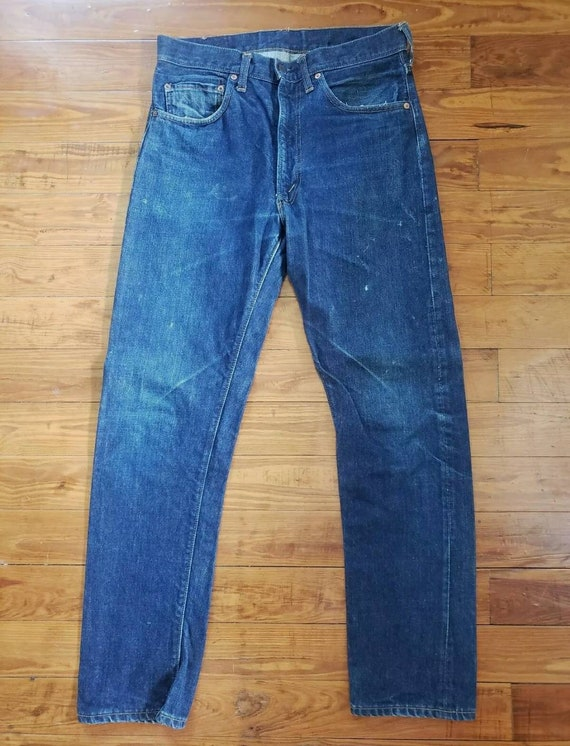 Vintage Levis Big E 505s 32x33 Single Stitch Indig