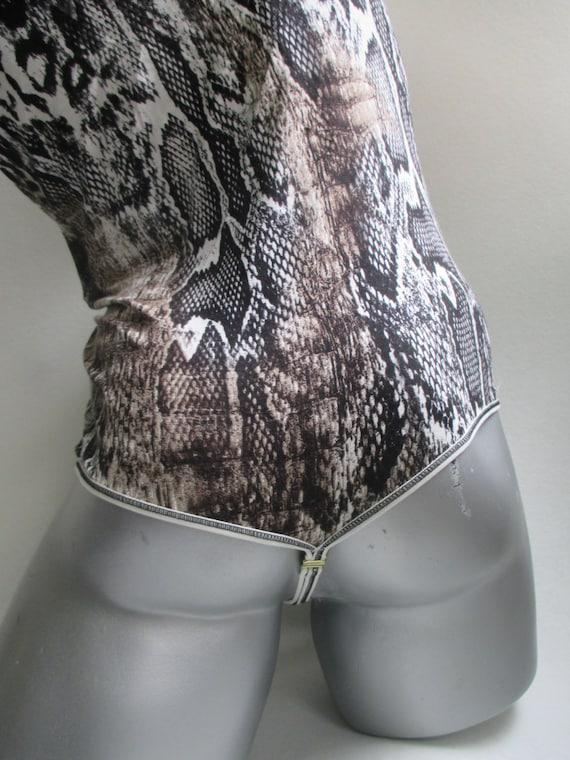 Unioun Body Sous Sexy Onepiece Mens Animal Imprimé En Manches Masculin Top Coton Vêtements Costume Thermique String Hommes Sans Teddy SUVzpM