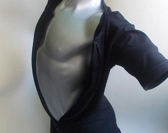 one piece bodysuit two way zipper underwear cotton lycra bamboo male boxer short sleeves long leg sleepwear union suit for men zip up