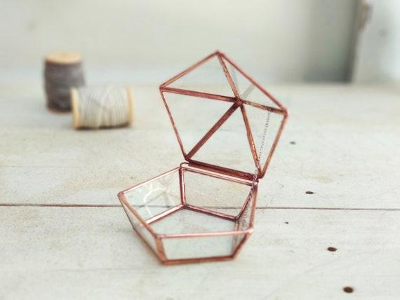 Glass Ring Boxwedding Ring Boxengagement Ring Boxgeometric Etsy