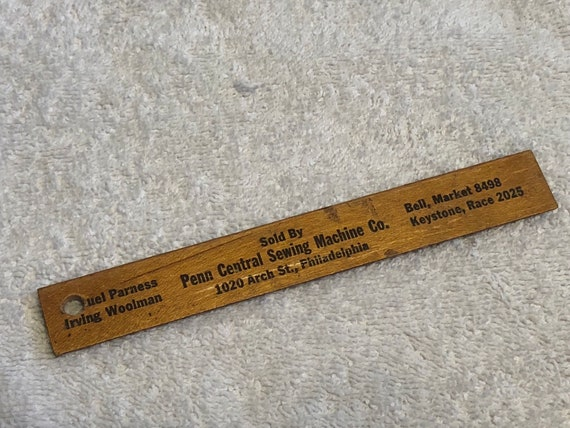 40 Vintage Wood Advertising Rulers Etsy Best Arch Sewing Machine Co Philadelphia Pa