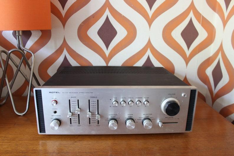 Rotel RA810 stereo hi-fi amplifier teak audio vintage retro 1970s record  player vinyl